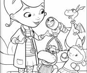 Coloring pages Magical Doctor the Plush