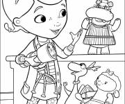 Coloring pages Plush doctor and his friends