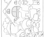 Free coloring and drawings Agricultural farm Coloring page