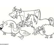 Free coloring and drawings Animals simple drawing Coloring page