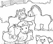 Coloring pages Farm animals in color