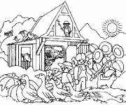 Free coloring and drawings Farm In The Countryside Coloring page