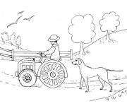 Coloring pages Farmer in the Fields