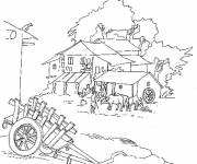 Free coloring and drawings Maternal farm Coloring page