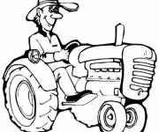Free coloring and drawings Tractor Coloring page