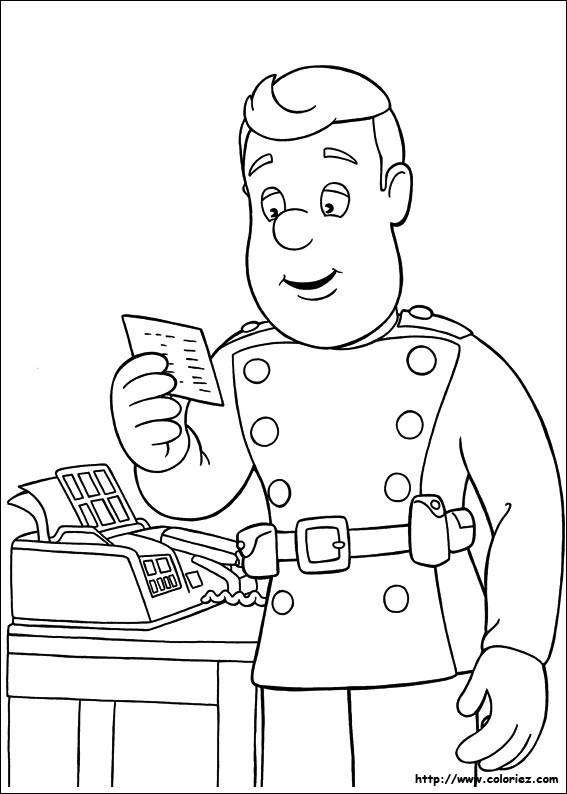 Free coloring and drawings A Letter for the Fireman Coloring page