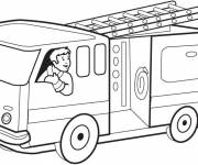Coloring pages Colored fire truck