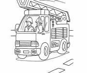 Free coloring and drawings Easy fire truck Coloring page
