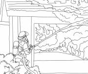 Coloring pages Firefighter coloring