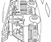 Coloring pages Firefighter in color