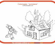 Free coloring and drawings Firefighter theme Coloring page