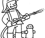 Free coloring and drawings Fireman for child Coloring page