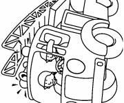 Free coloring and drawings maternal fire truck Coloring page