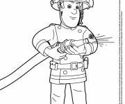 Free coloring and drawings Sam The Fireman Coloring page