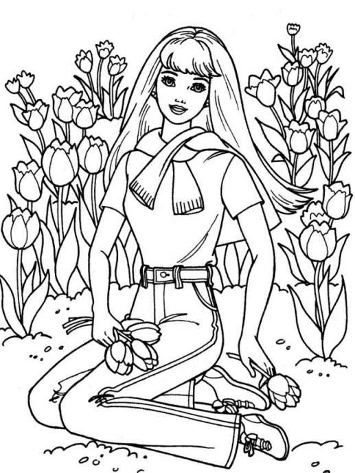 Free coloring and drawings A Florist drawing Coloring page