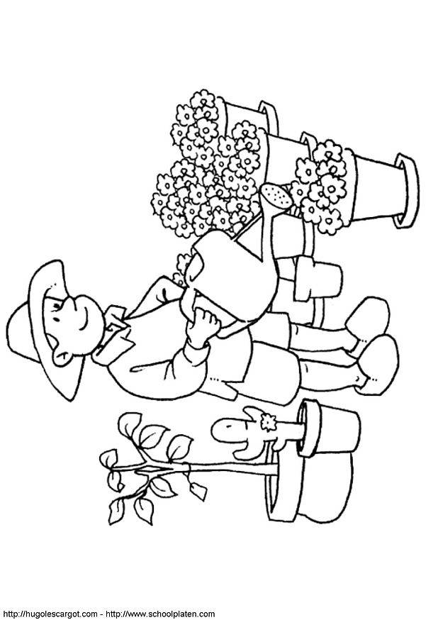 Free coloring and drawings A florist online Coloring page