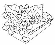 Free coloring and drawings A great Florist in black and white Coloring page