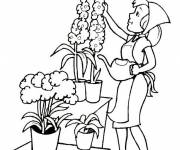 Free coloring and drawings Florist Coloring page