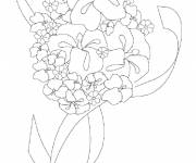 Coloring pages Florist and flowers