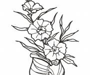 Free coloring and drawings Florist for kids Coloring page
