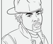 Free coloring and drawings American gangster Coloring page