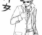 Free coloring and drawings Color gangster Coloring page