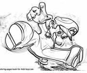 Free coloring and drawings Gangster Mario Coloring page