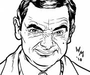 Coloring pages Gangster Mr Bean