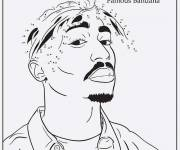 Free coloring and drawings Gangster Rapper Coloring page