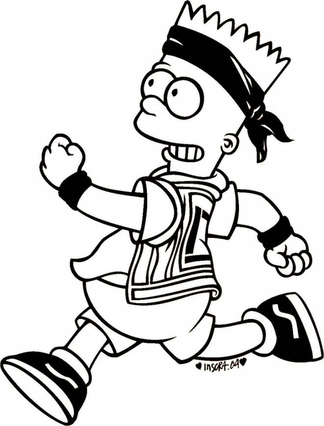 Free coloring and drawings Gangster Simpsons Coloring page