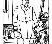 Coloring pages Grover Cleveland