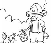Coloring pages Cartoon flowers garden