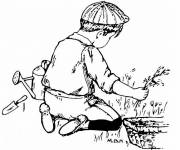 Coloring pages Child gardener
