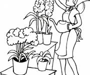 Coloring pages flower garden maintenance