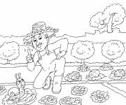 Coloring pages Hugo the snail's garden