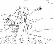 Coloring pages peasant returns home