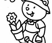 Coloring pages The Little Gardener Bear