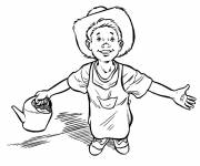 Coloring pages Young farmer