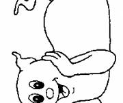 Coloring pages Cute ghost