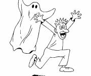 Coloring pages Ghost and man