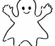 Coloring pages Smiling ghost