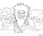 Coloring pages Forest giant