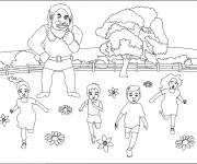 Coloring pages Frightening giant