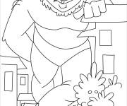 Coloring pages Funny giant