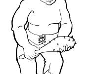 Coloring pages Giant and his stick