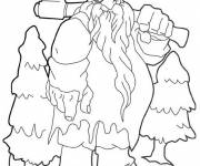 Coloring pages Giant Christmas