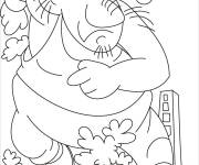 Coloring pages Giant running