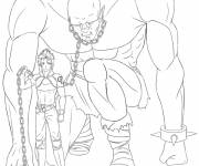 Coloring pages Giant slave