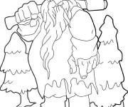Coloring pages Giant who carries his axis