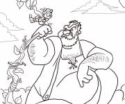 Coloring pages Mythical giant